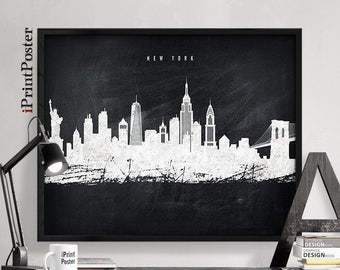 New York city poster, New York city print, New York city art, wall art, travel decor, art print, travel gift, iPrintPoster
