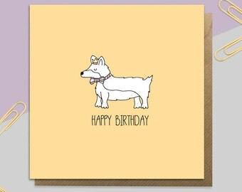 Birthday Corgi Card
