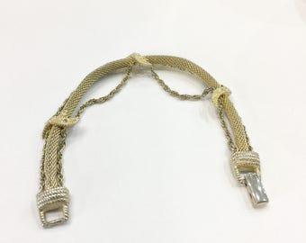 Vintage Signed Goldette Gold Tone Bracelet