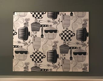 Marimekko 'Kattila' Large Fabric Panel Wall Art