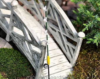 Fishing Rod - green for Miniature Garden, Fairy Garden