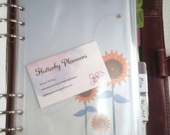 Filofax zip lock envelope A5/large filofax