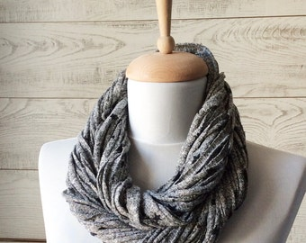 Grey Scarf Jersey Scarf Cotton Scarf Necklace Scarf Women Scarf Infinity Scarf Noddle Scarf Cotton Scarf Loop Scarf Summer Scarf