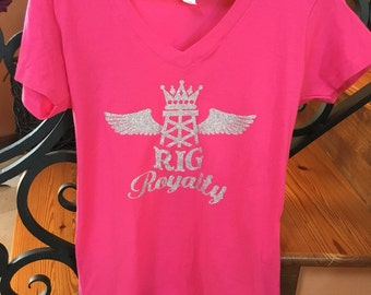 Womens Fashion Oil and Gas Hot Pink Tee