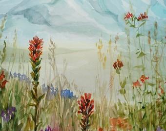 Original Watercolor Painting, Mountain Watercolor, Mountain Landscape, Original painting, Watercolor Picture, Mountain Art, Original Art