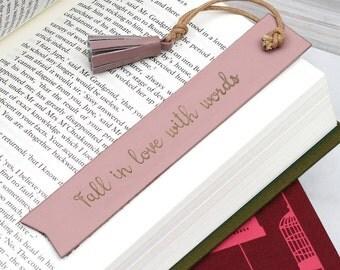 Personalised Italian Leather Bookmark (HBL10)