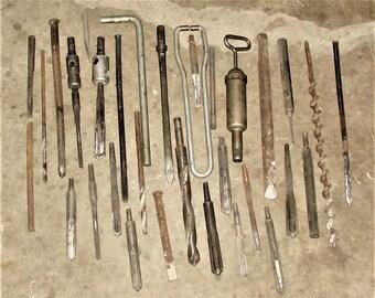 Milwaukee Hammer Drill Bits Lot Old Milwaukee Hammer Drill