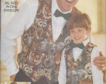 Butterick 5320 Father & Son Vest pattern OOP