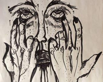 Bloodshot Eyes print