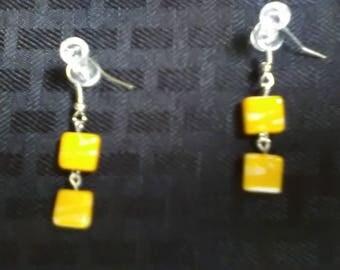 Yellow Double Dangle Earrings