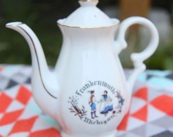 Antique Vintage Frankenmuth Michigan Tea Pot