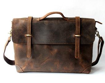 Mens Messenger Bag, Leather Messenger Bag, Laptop Messenger Bag