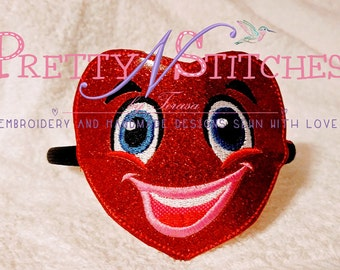 Heart Face In the Hoop slider for 4X4 hoop 2 sizes included