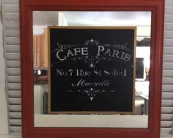 Upcycled Cafe Paris Mirror