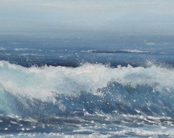 Stormy Seas - Original Acrylic Seascape - Surf Art