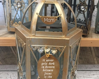 Heavenly Memorial Lantern light Personalized gift Miscarriage Stillbirth loss of loved one funeral in memory of item coworker loss loss of m