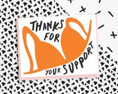 Bra Support Card