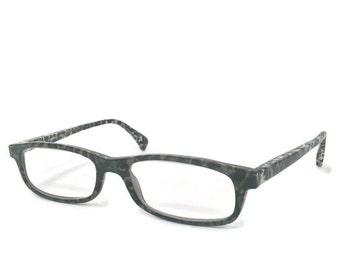 Alain Mikli Eyeglass Frames, Paris Designer Eyewear, Granite Finish, Black Grey White Speckled Pattern