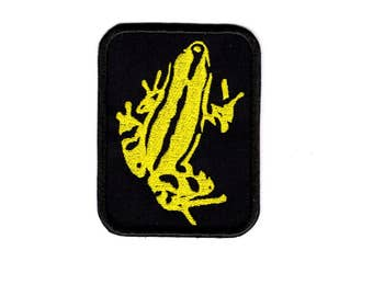Poison Dart Frog Patch Frog Iron/sew on Badge