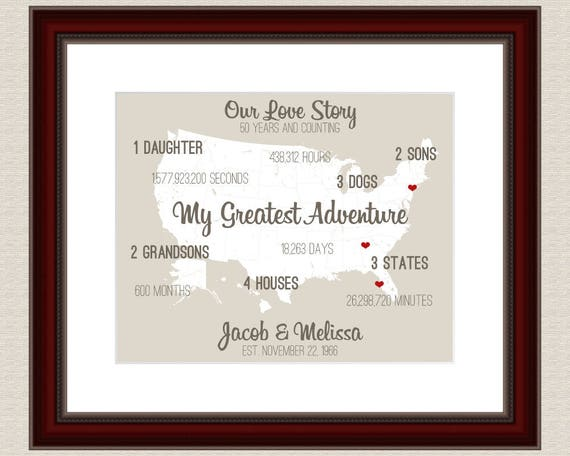 Fiftieth Wedding Anniversary Gifts: 50th Anniversary Gifts For Parents Personalized Anniversary