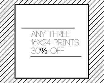 Three 16x24 Prints, Custom Wall Art