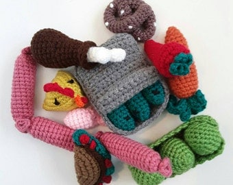 5 different combo packs to choose - Handmade Stuffed Crochet Cat Toy, Pet Gift