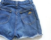 Vintage denim cutoffs, mom jeans, cut off shorts, high waisted denim shorts, retro vintage fashion, Chic brand blue jean summer short shorts