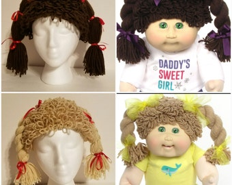 Crochet Cabbage Patch Kid Hat/Made to Order