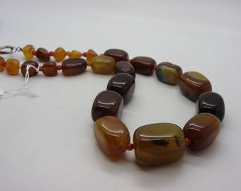 groosses Brown agate stones natural agate necklace