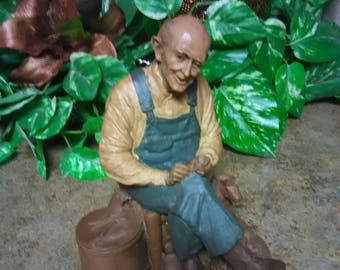Vintage Tom Clark Gnomes Uncle Whit  Country People by Carin Studio Signed Tom Clark Uncle Whit Statue