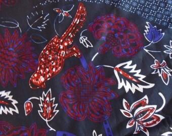 Wax Print Fabric, by the Half Yard