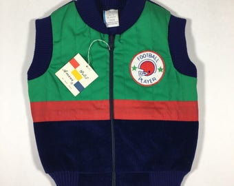 Deadstock Vintage Petit Amour vest 18m Football Playet Patch