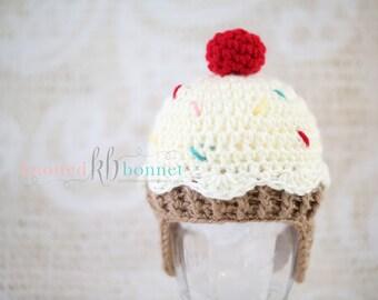 Sweet Treats Cupcake Baby Hat