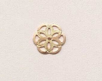 Gold filled Mandala    Small Mandala pendant