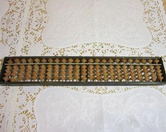 Vintage Japanese Wooden Soroban Abacus