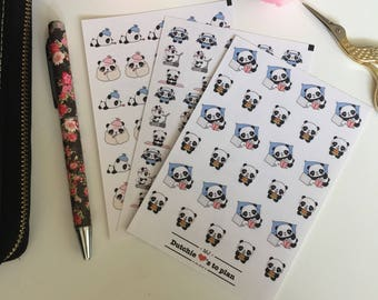Stickers | kawaii panda tasks II