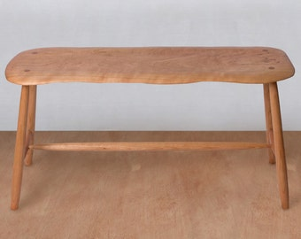 Mid Century Modern Bench, Wooden Bench, Entryway Bench, Hallway Bench, Wood Seat, Shoe Bench, Handmade Custom Bench, Dining Room Bench