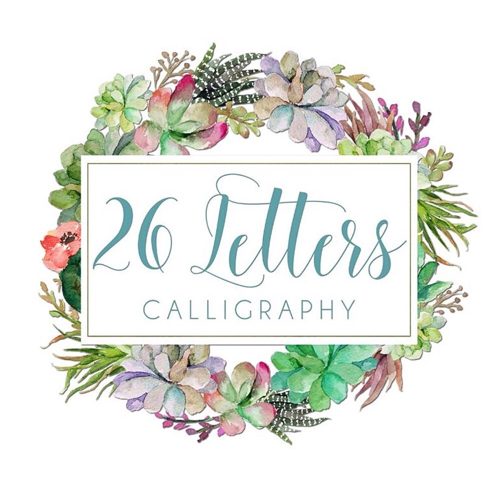 Letters calligraphy by katie haines lettersxo on etsy