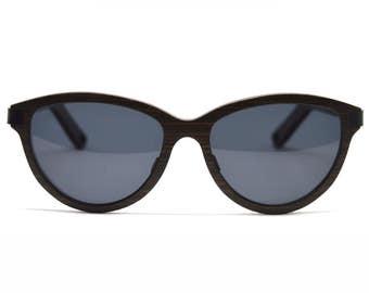 Wood Sunglasses Cateye Sunglasses Vintage Glasses Wooden Glasses Black Cateye Polarized Lenses Vintage Sunglasses Handmade Accessories
