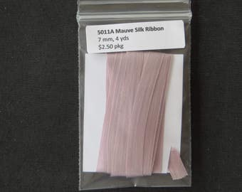 5011A Mauve Silk Ribbon  7mm