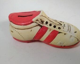 Vintage Ceramic Tennis Shoe Bank