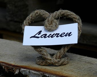 Rope Place Card Holder, Name Card Holder, Wedding Table Setting, Place Card Holder, Rope Wedding Number Holders, Set of 15