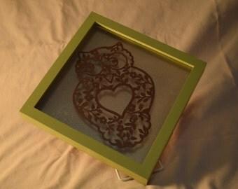 Handcut 'Owl' papercut