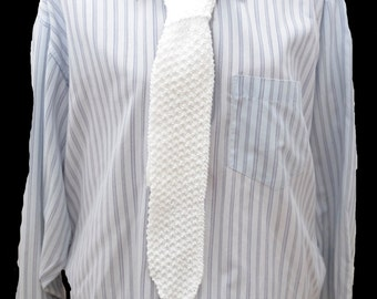 tie , knitted , mens , white