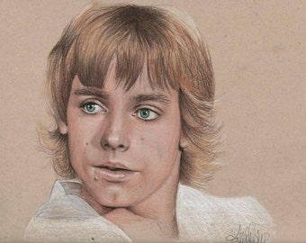 Original Sketch of Luke Skywalker