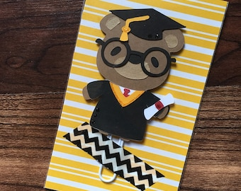 Graduate Bear Planner Clip, College, Highschool, Bookmark, Paper Clip, Paperwork Organizer