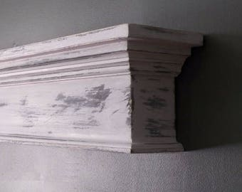 Small Fireplace Mantel, Country Mantel, Floating Wall Shelf, Rustic Mantel Shelf, Mantel, Fireplace Mantle, Mantel Shelf, Shabby Chic Mantel