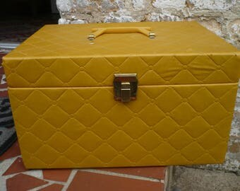 Yellow Overnight Bag, Toiletries/Cosmetics, Vanity Case