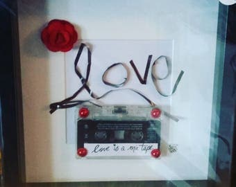 Cassette Mix Tape Love Frame