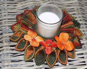 plastic canvas fall candle holder